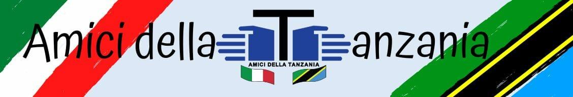 Banner con il logo dell'associazione degli amici della Tanzania e con i colori della bandiera italiana e della Tanzania